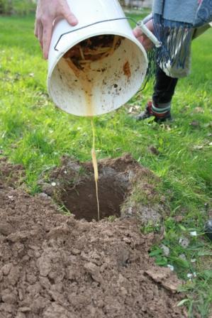 Jordiserar gör man i stället för att använda kompost
