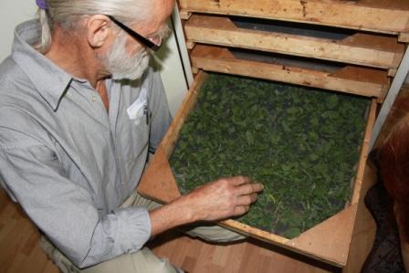 Dan Uhrbom visar oss sitt hemmagjorda torkskåp