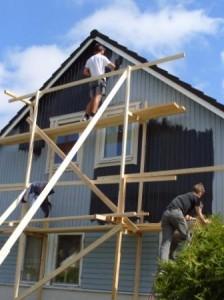 Vi renoverade och målade fasade för tre år sedan med hjälp av Grön byggnation