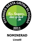 Vi har blivit nominerade till Sveriges bästa gröna blogg!