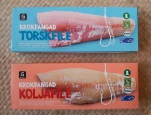 KRAV- och MSC-märkt samt krokfångad fisk