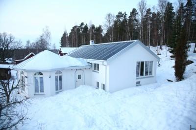 Andreas eget hus - efter ombyggnation och installation av solceller