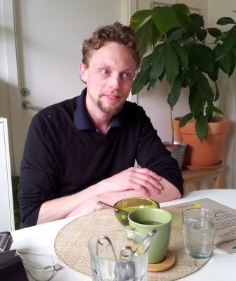 Solcellsexperten Andreas Molin på besök