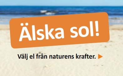 Älska sol! säger Bixias reklam - vi gillar!