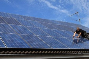 Fullt med solceller - en mäktig syn