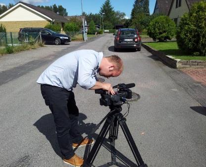 Videoreportern Pierre Bokvist filmar våra solceller