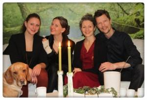 Familjen Ekosvensson på julafton