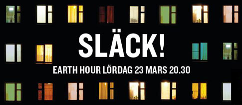 Earth Hour lördag den 23 mars kl. 20.30