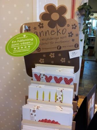 Anneko miljösmarta hälsningskort med fröband