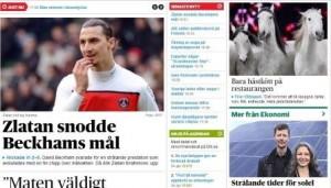 Ekosvensson och Zlatan delar förstasidan på DN.se