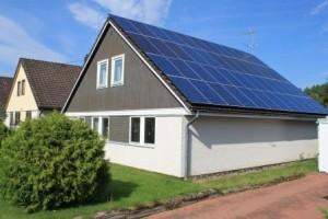Vårt hus med 86 kvm solceller